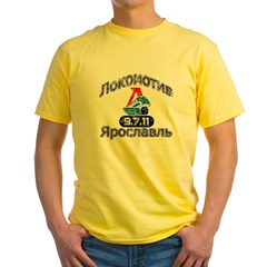 Lokomotive vintage fron Yellow T-Shirt