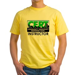 CERT Instructor Yellow T-Shirt