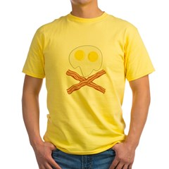 Breakfast Pirate Yellow T-Shirt
