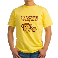BIG BROTHER monkey Yellow T-Shirt