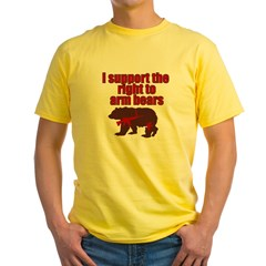 Right to arm bears Yellow T-Shirt
