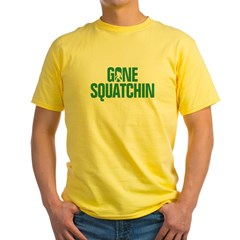 Gone Squatchin' Yellow T-Shirt