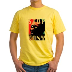 STOP KONY TEES Yellow T-Shirt