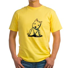 Vintage KiniArt Westie Yellow T-Shirt