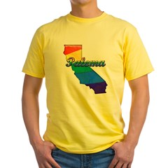 Paloma, California. Gay Pride Yellow T-Shirt