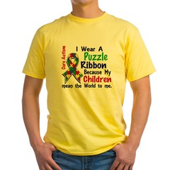 Means World To Me 4 Autism Yellow T-Shirt