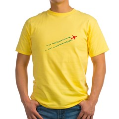 Contrails Yellow T-Shirt