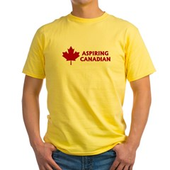Aspiring Canadian Yellow T-Shirt