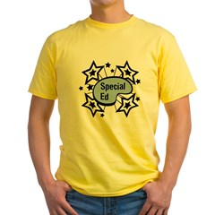 Special Ed Ash Grey Yellow T-Shirt