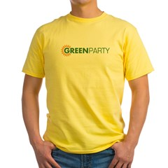 Green Party Logo (sunflower) Ash Grey Yellow T-Shirt