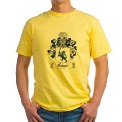 Mazzoni Family Cres Yellow T-Shirt