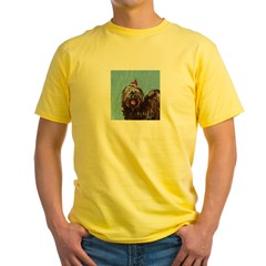 Tibetan Terrier xmas santa ha Ash Grey Yellow T-Shirt