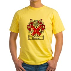 Barron Coat of Arms Yellow T-Shirt