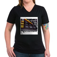 ACCOUNTAN Women's V-Neck Dark T-Shirt