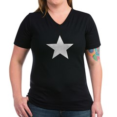 Star Women's V-Neck Dark T-Shirt