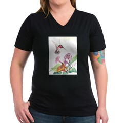 Adorable Hummers Women's V-Neck Dark T-Shirt