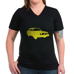 auto_volvo_140y Women's V-Neck Dark T-Shirt