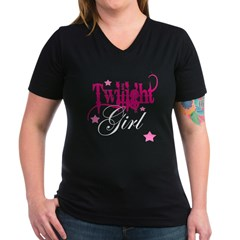 Twilight Girl Women's V-Neck Dark T-Shirt
