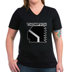 Thompson High Warriors Women's V-Neck Dark T-Shirt