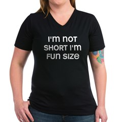 I'm Fun Size Women's V-Neck Dark T-Shirt