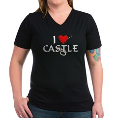 Castle Style 1 Women's V-Neck Dark T-Shirt