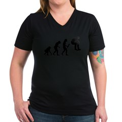 Skateboarding Women's V-Neck Dark T-Shirt