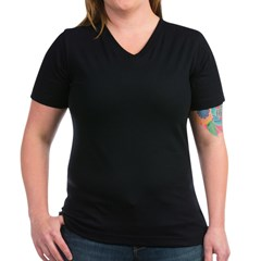 Green Occupy Wall Stree Women's V-Neck Dark T-Shirt