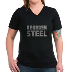 Rearden Steel Women's V-Neck Dark T-Shirt