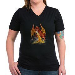 bloodwingBlkT Women's V-Neck Dark T-Shirt
