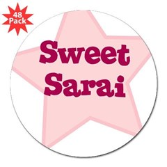 "Sweet Sarai Oval 3"" Lapel Sticker (48 pk)"