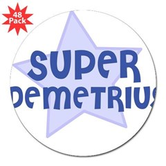 "Super Demetrius Rectangle 3"" Lapel Sticker (48 pk)"