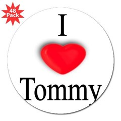 "Tommy Rectangle 3"" Lapel Sticker (48 pk)"