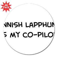 "Co-pilot: Finnish Lapphund 3"" Lapel Sticker (48 pk)"