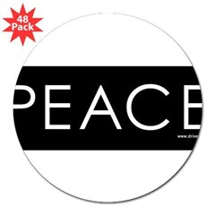 "Peace 3"" Lapel Sticker (48 pk)"