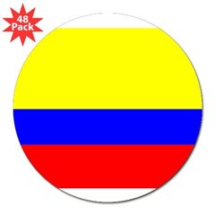 "Colombia Flag Rectangle 3"" Lapel Sticker (48 pk)"