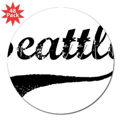 "Vintage Seattle 3"" Lapel Sticker (48 pk)"