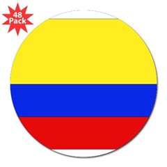 "Colombian Flag Rectangle 3"" Lapel Sticker (48 pk)"