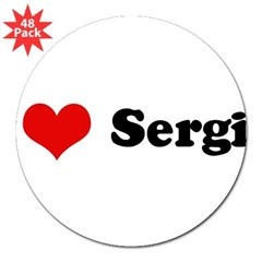 "I Love Sergio 3"" Lapel Sticker (48 pk)"