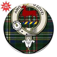 "Scott Clan Crest Tartan Rectangle 3"" Lapel Sticker (48 pk)"