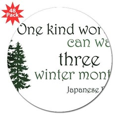 "Kind Word 3"" Lapel Sticker (48 pk)"