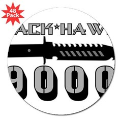 "Jack Hawk Rectangle 3"" Lapel Sticker (48 pk)"