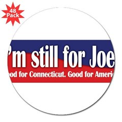 "I'm still for Joe (Lieberman) 3"" Lapel Sticker (48 pk)"