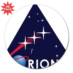 "Project ORION Rectangle 3"" Lapel Sticker (48 pk)"