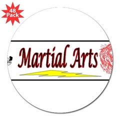 "Tiger Martial Arts 3"" Lapel Sticker (48 pk)"
