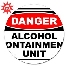 "Alcohol Containment Rectangle 3"" Lapel Sticker (48 pk)"