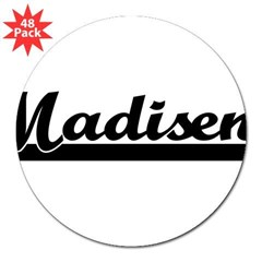 "Black jersey: Madisen 3"" Lapel Sticker (48 pk)"
