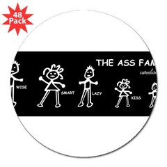 "The Ass Family 3"" Lapel Sticker (48 pk)"