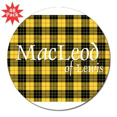 "Tartan - MacLeod of Lewi 3"" Lapel Sticker (48 pk)"
