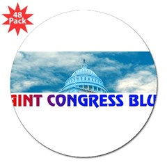 "PAINT CONGRESS BLUE! 3"" Lapel Sticker (48 pk)"