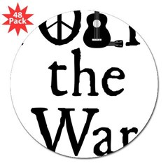 "Folk the War Rectangle 3"" Lapel Sticker (48 pk)"